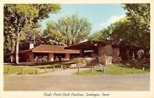 Dubuque Iowa~Eagle Point Park Pavilion~Picnic Shelter House~1956 Postcard