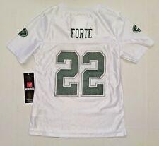 Girls Kids NFL NY Jets Team Jersey Matt Forte # 22 White Sparkle S 6/