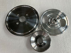 Lightweight aluminum pulley FOR 1989-1998 Nissan S13 240SX CA18 CA18DET 3pcs