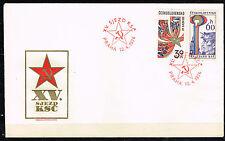 Czech Cold War Communist Propaganda Fdc 1976