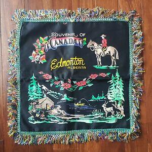 WW2 Era Souvenir Pillow Cover - Edmonton Alberta Canada