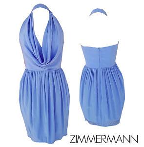 Zimmermann Silk Halter Neck Dress, Hydrangea - Size 1