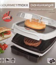 Gourmetmaxx Diätgrill Diät Kontaktgrill,Tischgrill,mit Brötchenaufwärmer