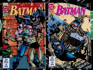 Batman #489 & 490 2nd Printings 1993 DC Comics 1st app Azrael as Batman Bane