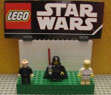 "STAR WARS LEGO LOT  MINIFIGURE--MINI FIG -- ""  LUKE - ANAKIN - PALPATINE  """