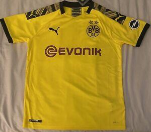 Puma Youth Borussia Dortmund Yellow Soccer Jersey. Youth Size XLarge