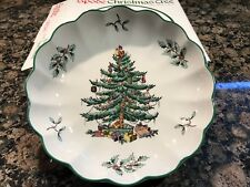"NIB 🎁 SPODE England Christmas 5"" Round Fluted Dish Holiday Dinnerware"