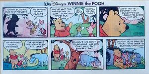 Winnie the Pooh by Walt Disney - lot of 11 color Sunday comic pages from 1978