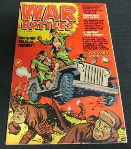 War Battles #2 (1952) Golden Age Harvey Comics VG+ 4.0-4.5 JM94