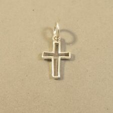 .925 Sterling Silver Basic OPEN CROSS CHARM NEW Small Religion 925 FA02