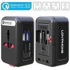 Travel Adapter,LOVPHONE Universal All in One Worldwide Travel Power Plug Wall AC