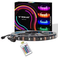 5M RGB LED Light Strip + Remote 5050 Mood Strip Light for Home Lighting Xmas 12V