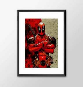 A3 Deadpool - PRINTED marvel comic book style for the Big Boys Geek man cave