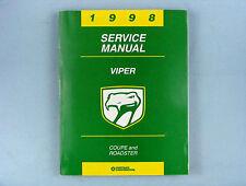 Service Manual, 1998 Dodge Viper RT/10 & Viper GTS, 81-270-8150