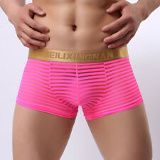 See-through Men's Mesh Boxer Briefs Underwear Underpants Transparent Swim Trunks