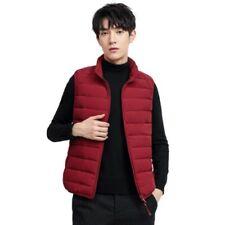 Men's Stand collar Duck Down Vest Puffer Jacket Sleeveless Waistcoat Plain New L