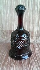 Vintage red Fostoria Avon Cape Cod hostess bell