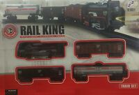 CLASSIC TOY TRAIN SET TRACK CARRIAGES LIGHT ENGINE BOXED BOYS KIDS BATTERY