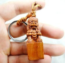 Hand-carved lion Wooden Crafts, Key Chain, Key Ring  Lover Gift