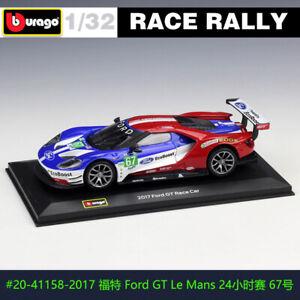 BBURAGO 1:32 2017 Ford GT #67 DS WRC rally car alloy model