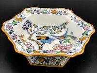 Antique Ashworth Bros Pottery Bowl - Ornate Bird Design <F2