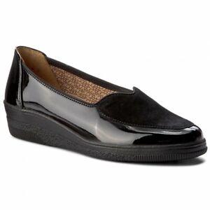 Gabor Comfort Black Suede Leather Ballet Loafer Flat Shoe Size UK 5 EU 38 US 7.5