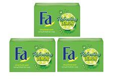 3 x 100g Fa Refreshing Lemon Hand Soap - Aquatic Fresh Soap