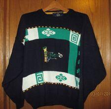 St. Patrick's Irish Sweater, Navy Blue, Blarney Castle, Made in Ireland, Medium