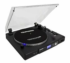 Telefunken TT100EM Plattenspieler USB MP3-Encoding 33/45 U/Min Line-In schwarz