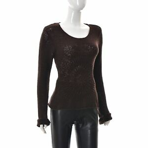 Marc O'Polo Womens Jersey Knit Sweater Scoop Neck Stretch Fitted Long Sleeve M