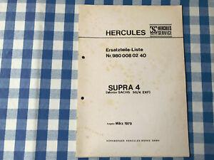 Original Ersatzteile Liste Sachs Hercules Supra 4 1979