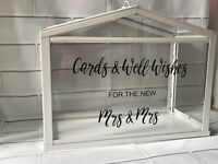 Vinyl Design To Stick Onto IKEA greenhouse wedding post box cards gifts sticker
