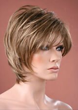 Forever Young Short Full Neck-hugging Brown with Blonde Fashion Wigs