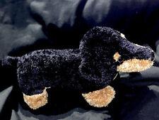 Aurora DACHSHUND Weiner Dog Plush Stuffed Animal black brown