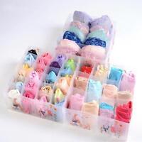 Plastic Divider Drawer Closet Organizer Storage Box Lingerie Underwear Socks Tie