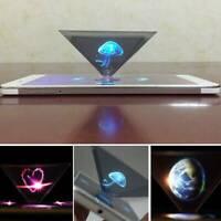 3D Hologramm Pyramid Display Projektor Video für Universal Smart Cell Phone DE !