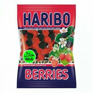 Haribo Berries Halal Chewy Sweets x12 Packets Made in Turkey parties