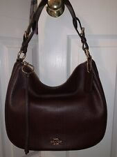 Coach Sutton Hobo Shoulder Bag Crossbody Oxblood Burgundy New