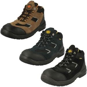 MENS TRUKA A3047 LEATHER STEEL TOE CAP LACE UP WORK SAFETY BOOTS HIKING SHOES