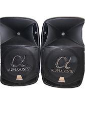 Alphasonik AKDJ155BTS 2800W Amplified Pro DJ Speaker System - Black