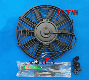 "14"" inch electric universal auto cooling radiator fan + Mounting kit"