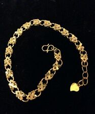 24 KART GOLD OVER STERLING BRACELET 7 TO 8 INCHES