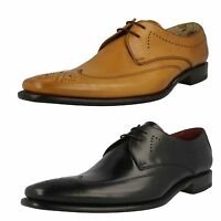 Mens Loake Black/Tan Leather Lace Up Shoes  UK Sizes 7 - 12 Stitch F Fitting