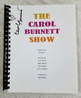 "Carol Burnett ""The Carol Burnett Show"" Signed Full TV Script Episode #7, 1974"