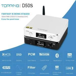 TOPPING D50s ES9038Q2Mx2 32Bit/768Khz DSD512 Bluetooth 5.0 USB DAC Audio Decoder