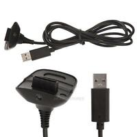 Wireless Controller USB Charging Cable Replacement Charger For Xbox 360 Black