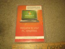 Microsoft Windows 7 Home Premium 64 Bit W/ Product Key. PC