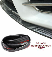 "58"" CARBON FRONT BUMPER SPOILER LIP SKIRT PROTECTOR RUBBER SPLITTER GUARD SAB"