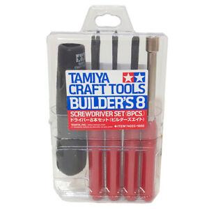 Tamiya 74023 Craft Tools Builder's 8 Piece Screwdriver Set for Model Makers