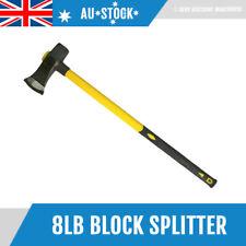 "NEW 8LB 35"" Fiberglass Handle Wood Pile Camping Axe Blocksplitter Block Splitter"
